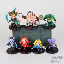 Free Shipping DOTA 2 Kunkka Lina Pudge Queen Tidehunter CM FV PVC Action Figures Collectible Toys 7pcs/lot Toy Game Models