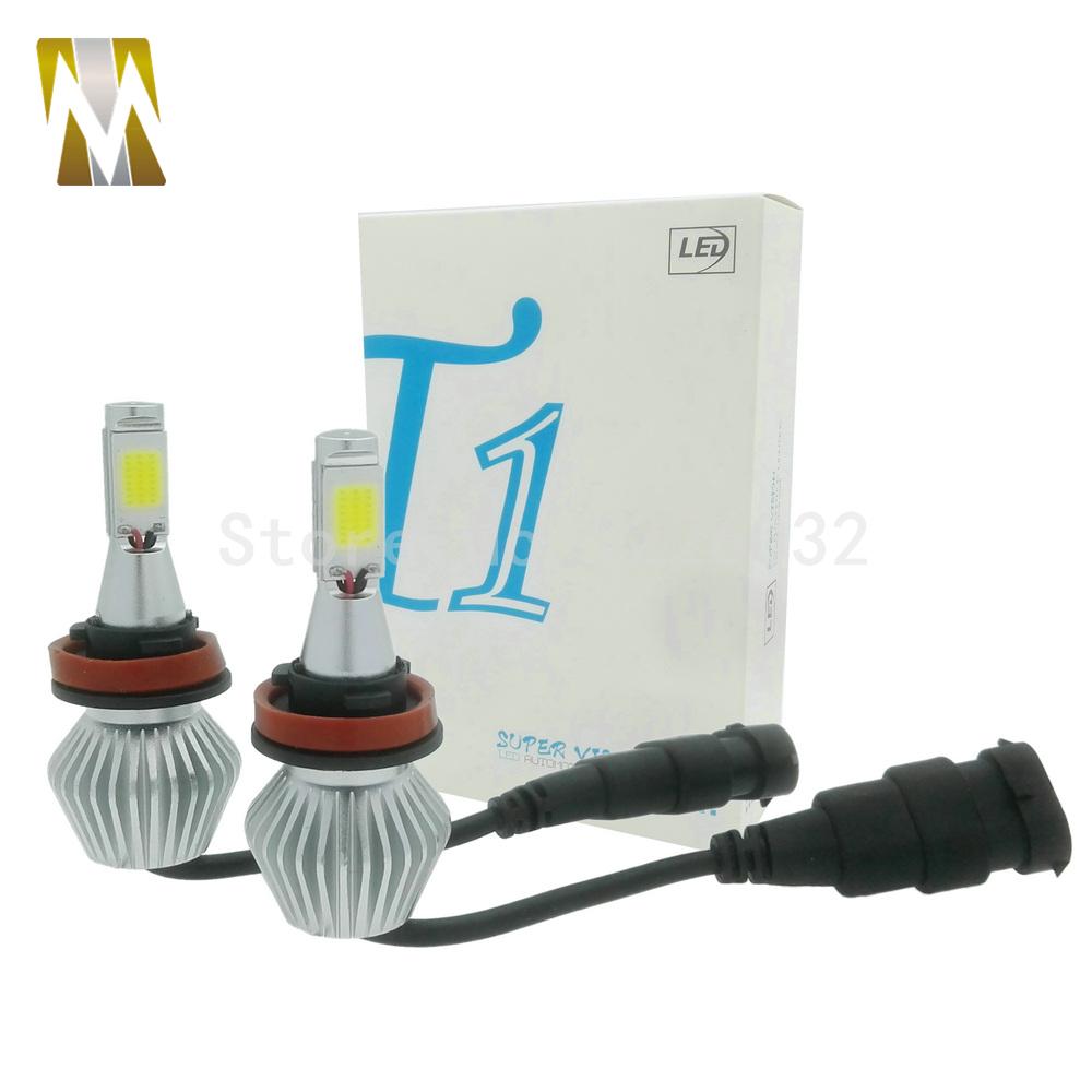 H8 H9 H11 LED Headlight Conversion Kit 36W Headlamp White Lamp HID Xenon Kit 12v Bulb Lamp Car COB LED Chips H7 H1 H3 9005 9006(China (Mainland))