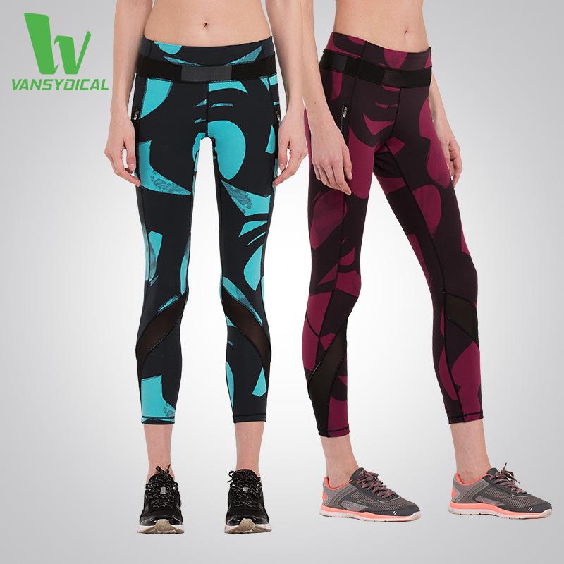 Women Mesh Yoga pants High Waist Elastic Sport Slim Leggings Gym Workout Sweat Training Sportswear Female Fitness Tights Clothes - hopeforth store