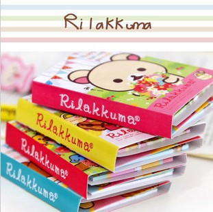 Kawaii Rilakkuma 4 Folding Memo Notepad,Note Book&Memo Pad,Sticky Notes Memo Set,Gift Stationery KCS(China (Mainland))