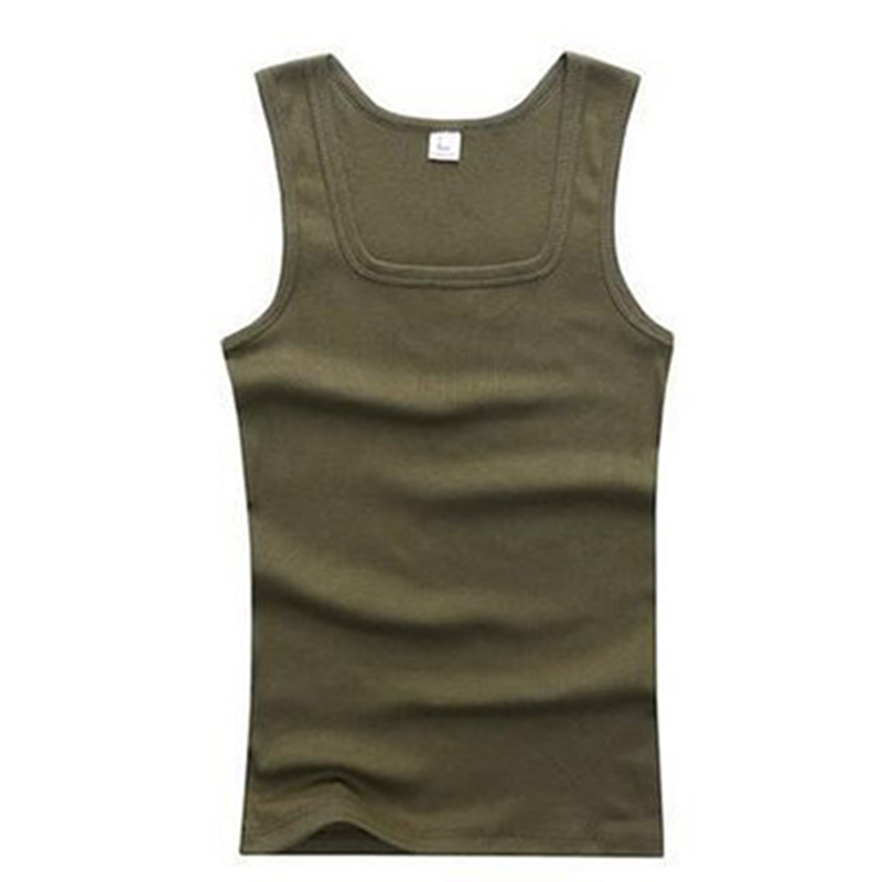 Summer Mens Bodybuilding Tank Tops Square Collar Vest ...