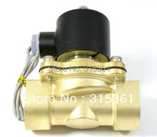 Free Shipping Electric Solenoid Valve Water Air N/C 220V AC 3/4″ 2W200-20 Option DC12V,DC24V or AC110V