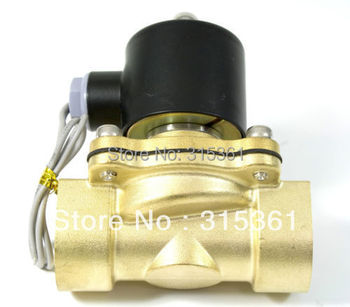 "Free Shipping Electric Solenoid Valve Water Air N/C 220V AC 3/4"" 2W200-20 Option DC12V,DC24V or AC110V"