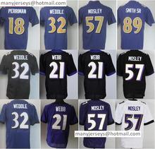 Discount 21 Lardarius Webb 57 C. J Mosley 32 Eric Weddle 89 Steve Smith SR 18 Breshad Perriman Color Rush Purples Black(China (Mainland))