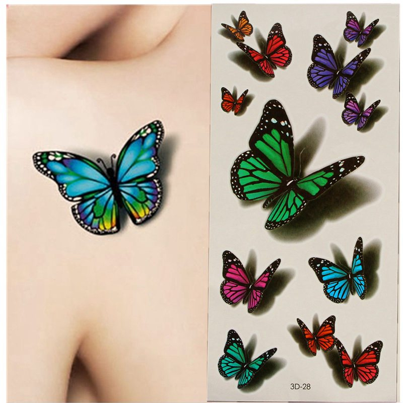 Online buy wholesale butterfly 3d tattoos from china for Wholesale temporary tattoos