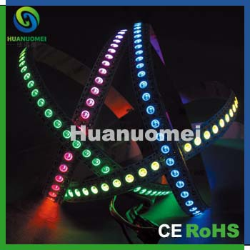addressable WS2811 built IC 2m 144pixels/m RGB led strip light Withe PCB,CE RoHS