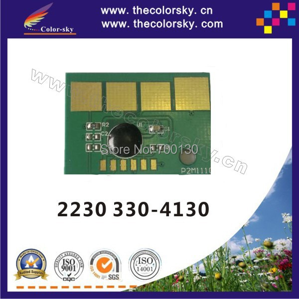 (TY-D2230) compatible smart toner cartridge reset chip chipset for Dell 2230 330-4130 3304130 bk 3.5k pages free shipping(China (Mainland))