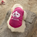 Summy Rose Princess Polyester Dog Vest Dog Clothes for Pets Dogs Puppy Dog Vest