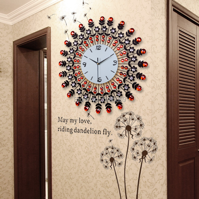Large fashion living room wall clock modern fashion for Living room wall clocks