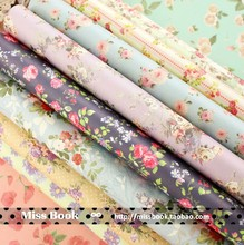 Vintage Flower Decorative Wrapping Paper Book Wholesale A4 24sheet/bag handmade paper Mixed color paper(China (Mainland))