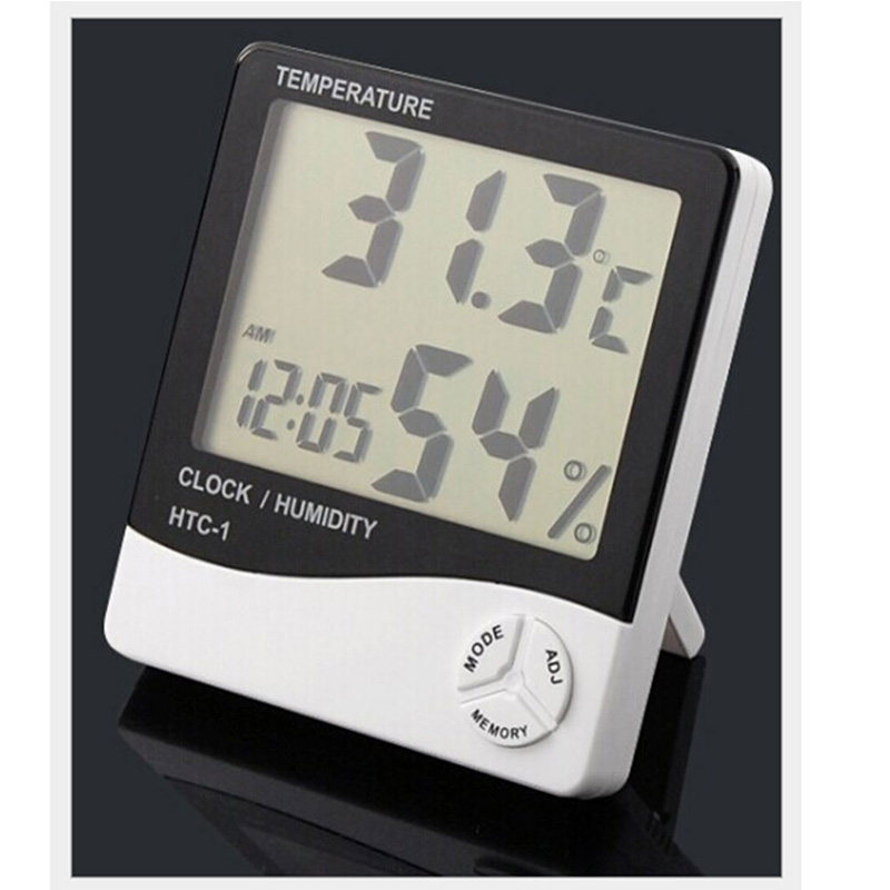 HTC-1 High accuracy LCD Digital Thermometer Hygrometer Indoor Electronic Temperature Humidity Meter Clock Weather Station