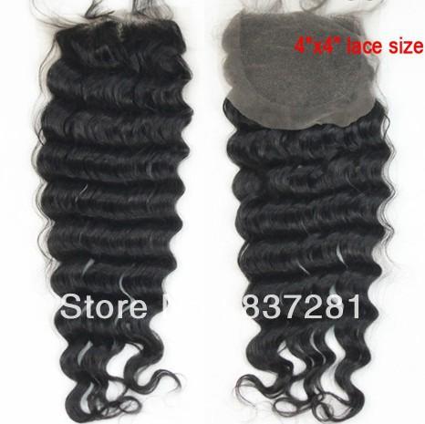 4X4 virgin brazilian closure - Flower hair factory store