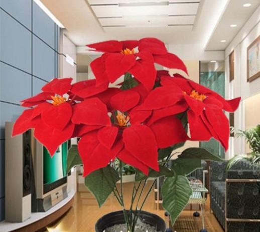Acheter plantes artificielles fleur for Plante noel rouge