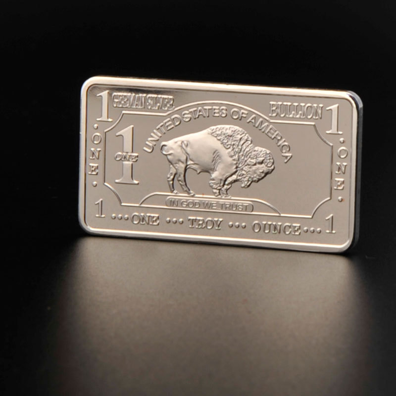 The Lastest 100pcs United States Bull Currency Commemorative Euro Coins Silver Bullion US Mint German Coin Sets Wholesale(China (Mainland))
