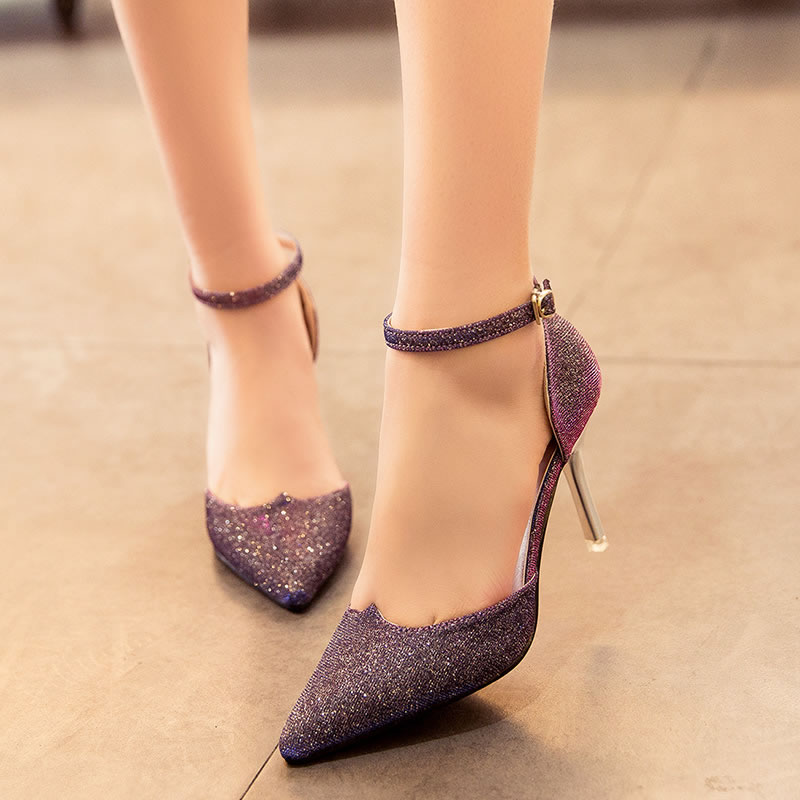 New Fashion Ladies High Heels Buckle Strap Women Pointed Toe Shoes Stiletto Gorgenous Ladies Shoes#HR168<br><br>Aliexpress