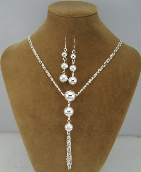 EVYSTZ (85) Unique Jewelry Fashion silver lady balls necklace earring sets jewelry - Evan Store store