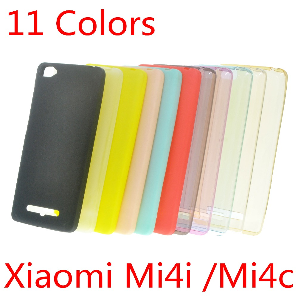 Гаджет  Xiaomi Mi4i Case (xiaomi mi 4i) Ultra Slim Fit 0.5mm Flexible Transparent TPU Skin Phone Cover Clear/Gray/Blue/Pink/Gold None Телефоны и Телекоммуникации