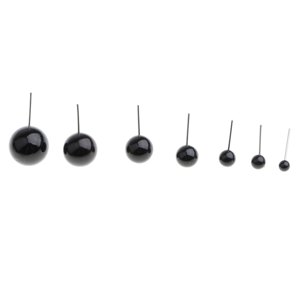 100 Pieces Black DIY Making Supplies Plastic Glass Eyes Kits Making Soft Toys For Needle Felting Bear Dolls Accessories Toy