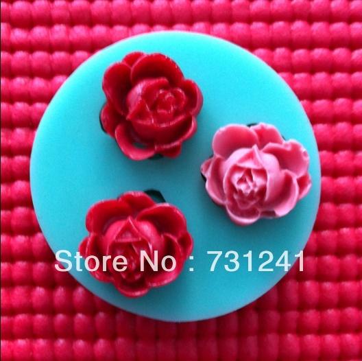 New! Mini 3D Rose Shape Mold, Silicone Cake Mold ,Bakeware Decoration Mold,Silicone Fondant Mold(China (Mainland))