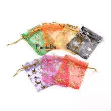 Rectangle Vacuum Packing Organza Gift Bags, Jewelry Packing Drawable Pouches, Mixed Color, 7x9cm(China (Mainland))