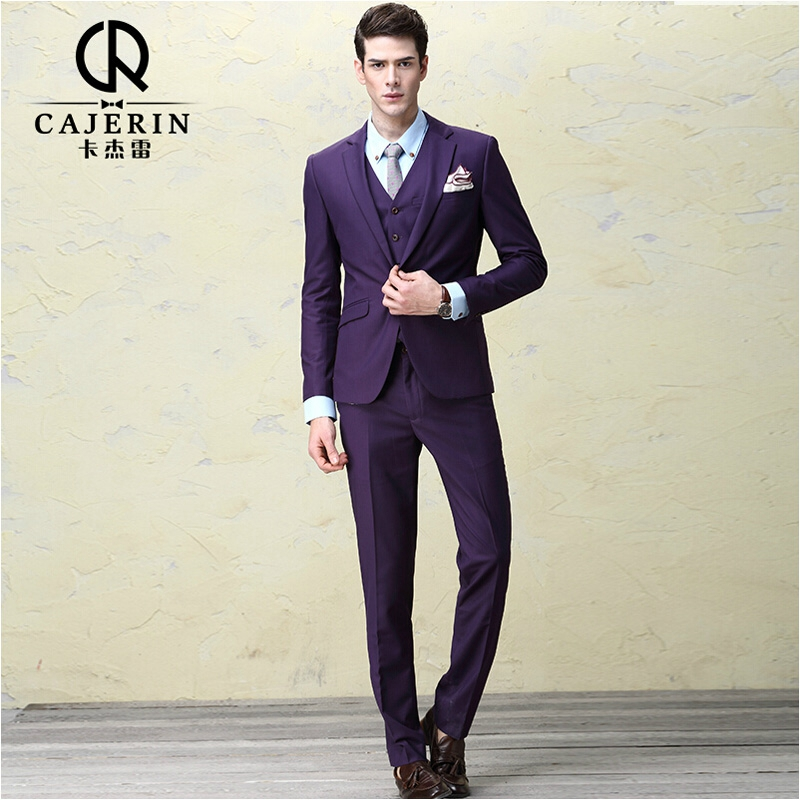 groom dress terno masculino slim fit purple suits for men herren anzug. Black Bedroom Furniture Sets. Home Design Ideas