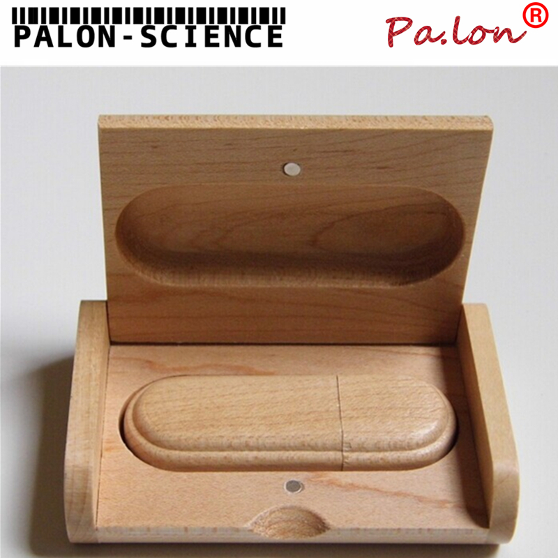 WD5 2014 Hot Sale Wooden USB flash drive pen drives Maple wood+Packing box 4GB 8GB 16GB 32GB memory stick gift(China (Mainland))