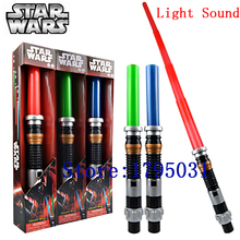 Red Green Blue Star Wars Lightsaber with Light Sound Led Cosplay Sword Star Wars Laser Sword Toy Weapons Juguetes Kids Toys(China (Mainland))