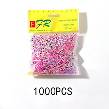 200/1000PCS Cute Girls Colourful Ring Disposable Elastic Hair Bands Ponytail Holder Rubber Band Scrunchies Kids Hair Accessories(China)