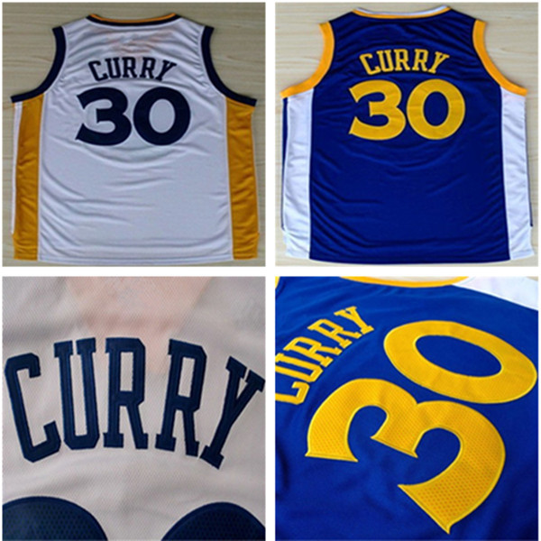 High quality #30 St Curry Jerseys Blue/White New Material Rev 30 Embroidery Basketball Jersey Logos Tags Stitched freeship(China (Mainland))