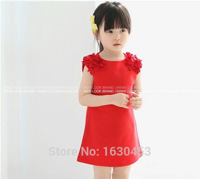 Girls Clothes Rushed Dresses Free Shipping Flower Girl Dress New 2016 Fashion Summer Casual Baby Kids Clothing Children's Wear(China (Mainland))