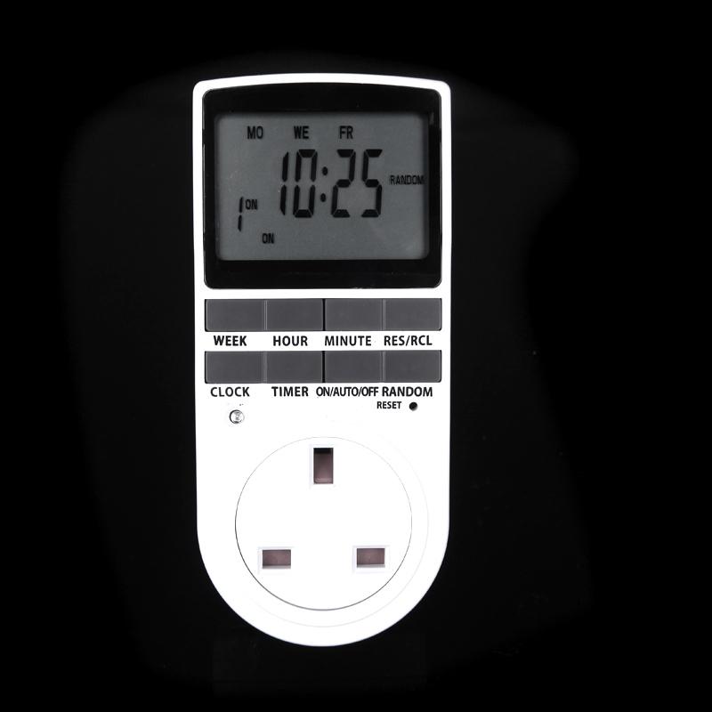 Digital LCD Power Programmable Timer Switch Summer Random Function UK Plug Energy Saving Socket(China (Mainland))