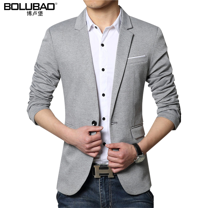 2016 New Autunm Fashion Blazer Men Stylish Casual Slim Fit Suit Jacket Mens Suit Long Sleeve ...