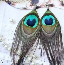 unique earring  trend feather earrings drop earring free shipping F280(China (Mainland))