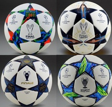 Hot Sale A+++ 2015-2016 Champions League Confederations Cup soccer ball soccer -slip PU tasteless seamless particles Soccer 5(China (Mainland))
