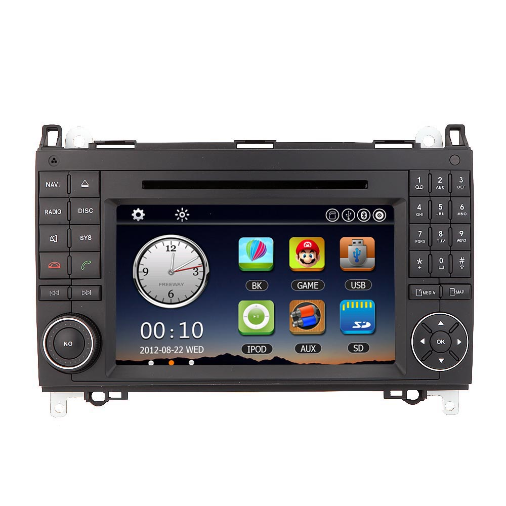"""7"""" Car Radio Double 2 Din Car DVD Player GPS Navigation in Dash Car PC Stereo Head Unit for Mercedes-Benz A B Class(China (Mainland))"""