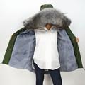 S1544 2016 Wholesale Retail Navy Green Black Long Jacket Women Real Raccoon Large Fur Collar Top