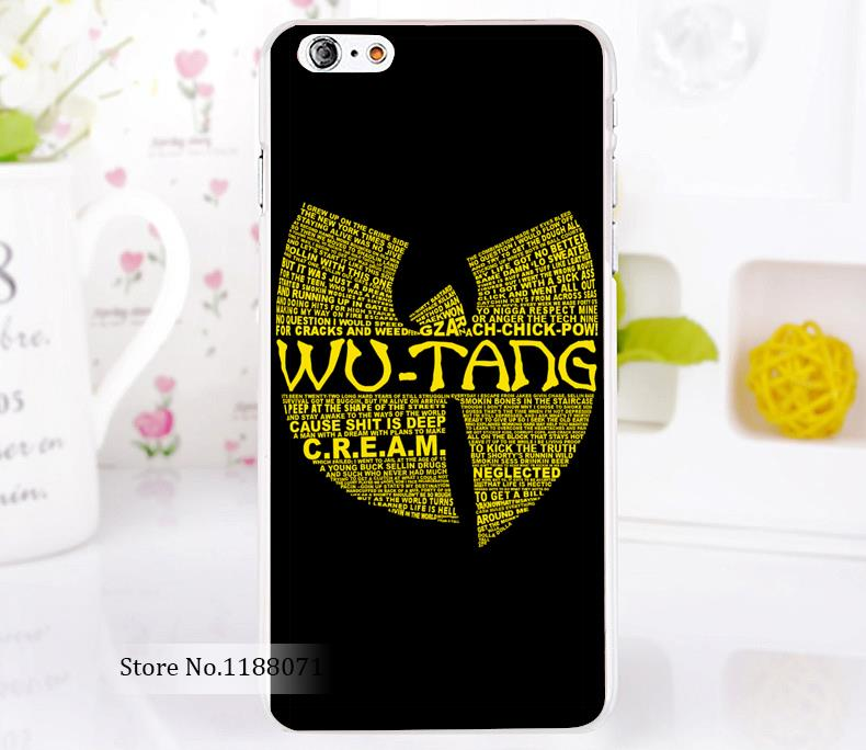 Wu Tang Clan cream cause shit is deep Style For iPhone 6 6s 6g iphone 6+ 6 plus Transparent Case Hard Clear Cover New arrival(China (Mainland))