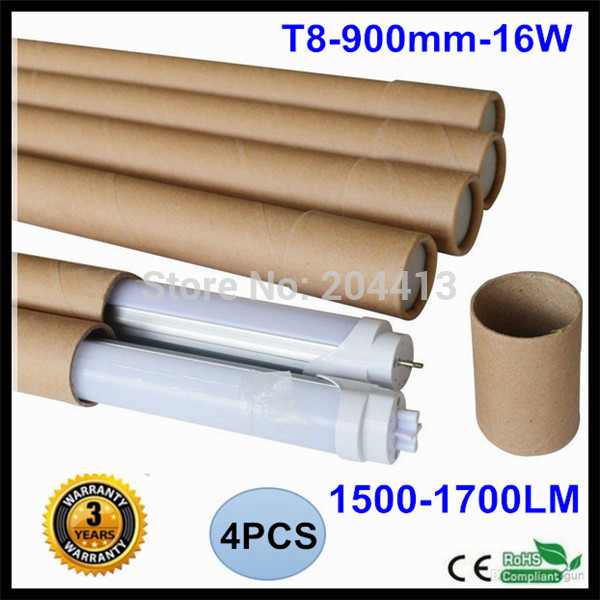 Free Shipping Factory Wholesale 16W T8 0.9m 4 piece/pack 50000H Lifespan CE RoHS Super Bright 3ft LED Tube(China (Mainland))
