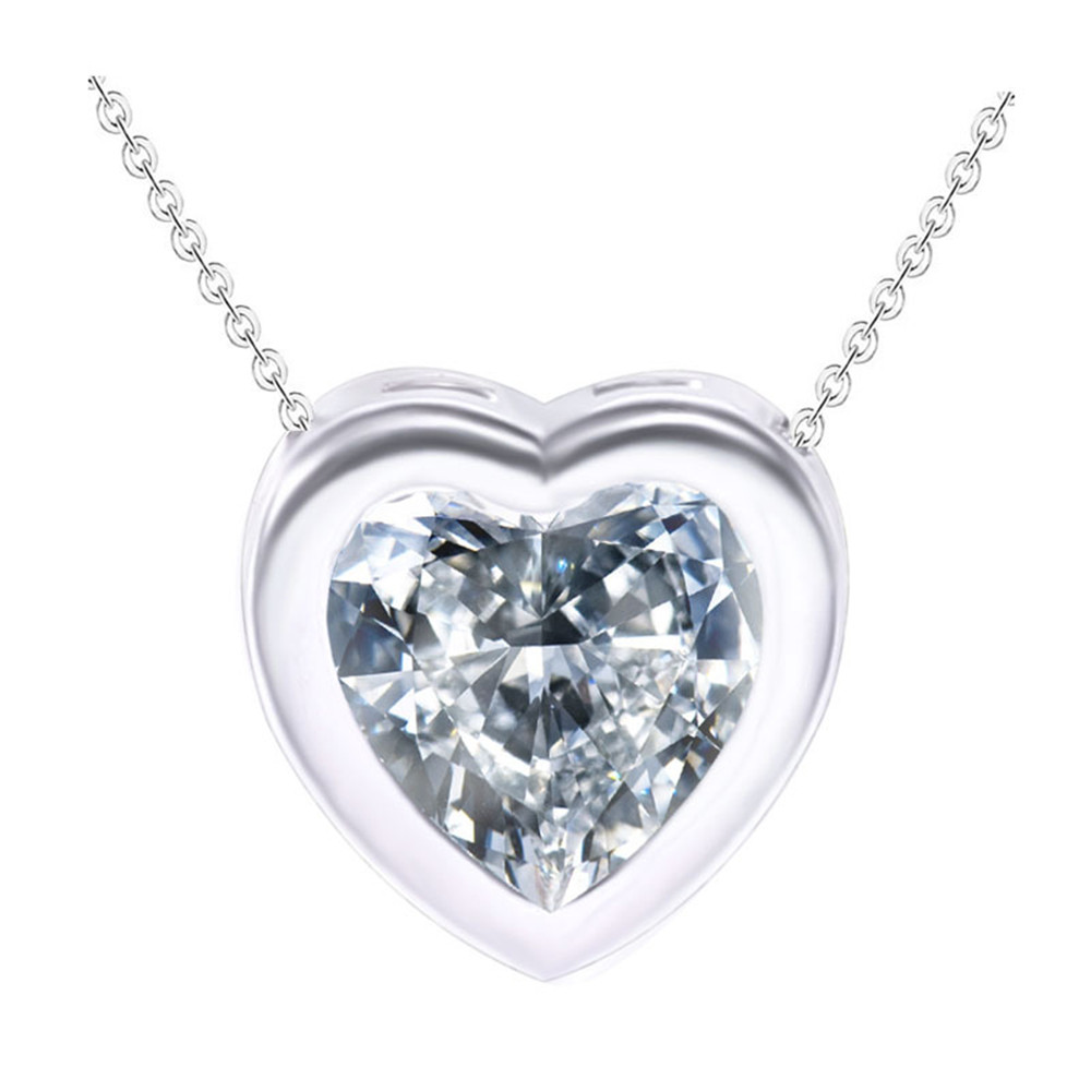 The New Zircon Necklace Crystal Heart Perfume Women Love Necklaces NK0008(China (Mainland))