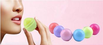 6 цвет новинка круглый природные органические украсьте бальзам для губ, Гигиеническая помада, Для губ