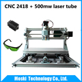 cnc2418 500mw laser diy mini cnc engraving machine Pcb Milling Machine Wood Carving machine cnc router
