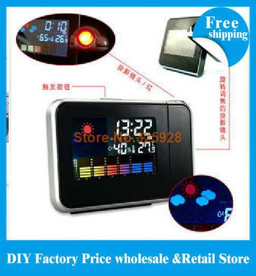 1pcs High Quality With Cheap Price Mini Desktop Multi-function Weather Station Projection Alarm Clock(China (Mainland))