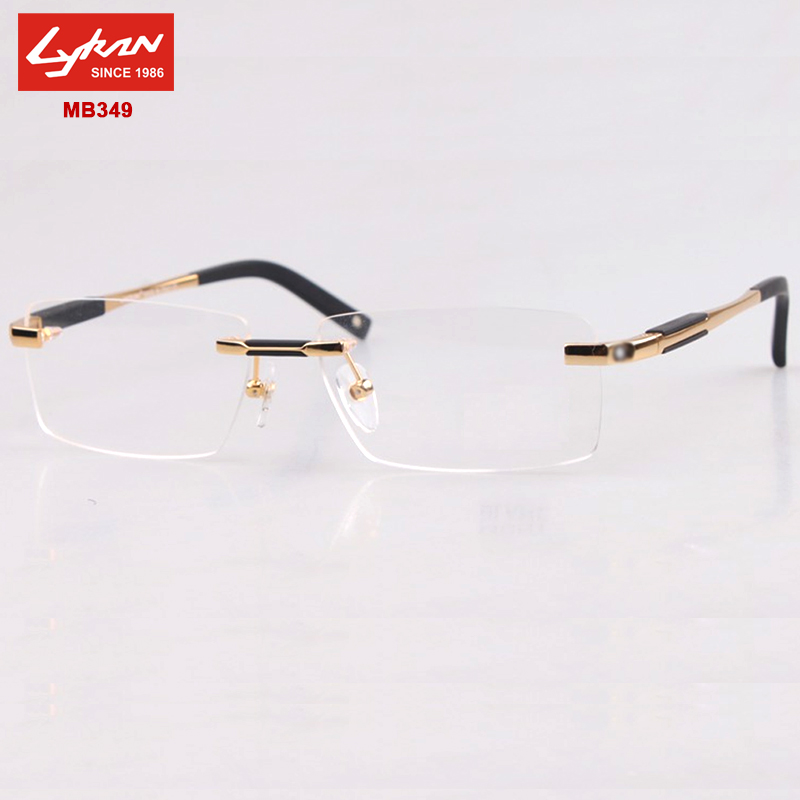 Optical frame Men Brand 2015 rimless eyeglasses frames ...