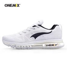 ONEMIX мужская обувь для бега для женщин сетчатая трикотажная Подушка кроссовки теннисные Спортивные кроссовки для прогулок и бега(China)