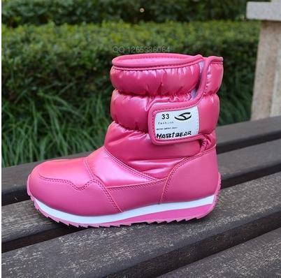 2016 Warm Children Snow Boots Boys Girls Child Boot Winter Waterproof Anti-skidding Rubber Sole Children's Shoes Size 26-38 - 1,2,3 kids store