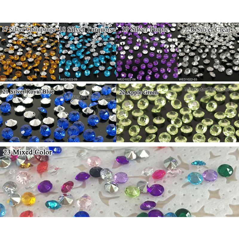1000PCS 4 5mm Wedding Decoration Crafts Diamond Confetti Table Scatters Clear Crystals Centerpiece Events Party Festive