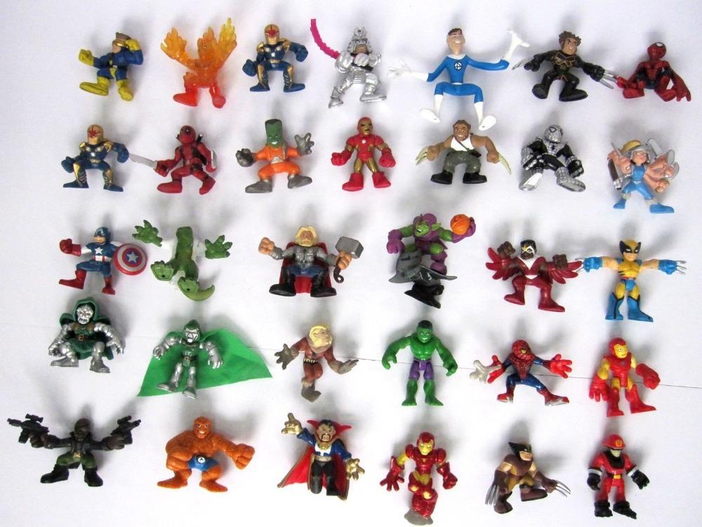 new LOT OF 10X PCS Marvel Super Hero Squad RANDOM PICK Action FIGURE BATMAN LOOSE toys kids christmas gifts - super toy store