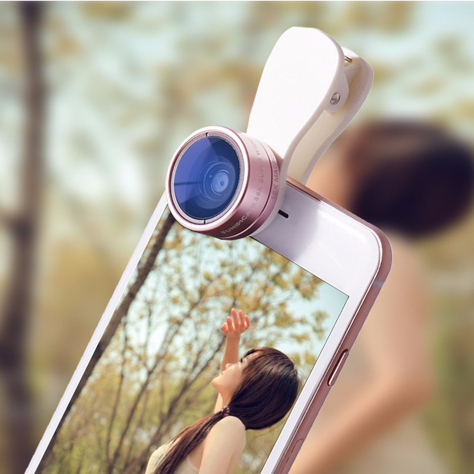 2in1 Clip-on HD Camera Lens Kit 0.36X Wide Angle 15X Macro Mobile Phone Lenses For iphone 4 4s 5 5s 5c SE 6 6s 7 Plus Huawei p6