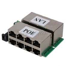 802.3af 8 Ports Passive POE injector Power Supply Module For AP IP Camera Phone