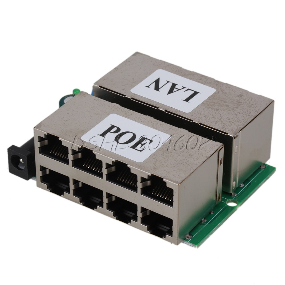 802.3af 8 Ports Passive POE injector Power Supply Module For AP IP Camera Phone(China (Mainland))